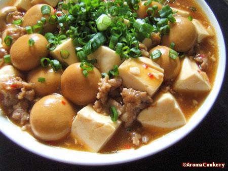 Pork tofu in oyster sauce recipe