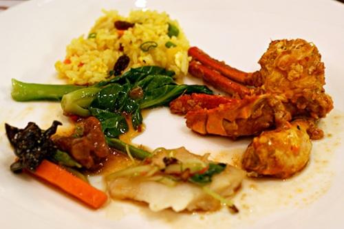 Hot Asian food selection