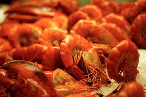 Chilled prawns