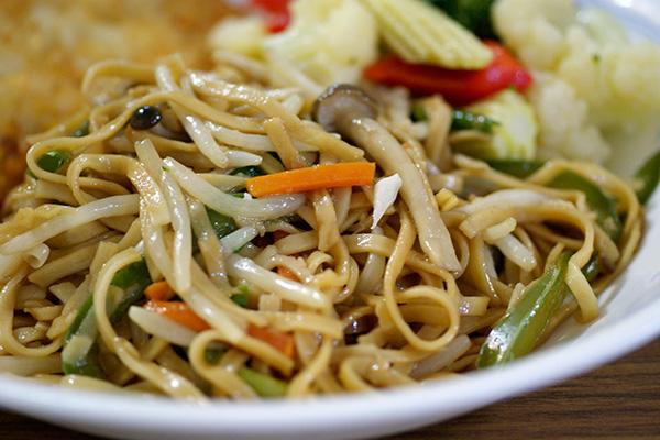 Hong Kong yee-fu noodles.