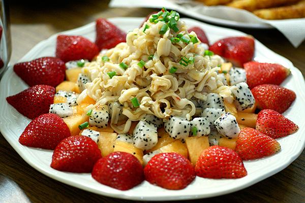 Top shell & fruit salad