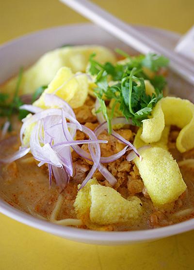 Coconut chicken noodles, S$2.50.
