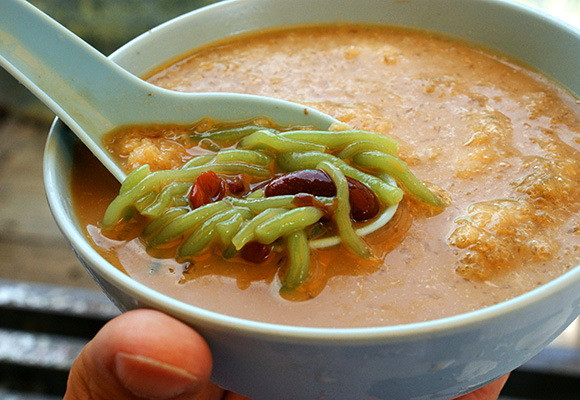 Cendol from the famous stall, RM1.70