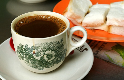 Hainanese coffee & steamed kaya bread