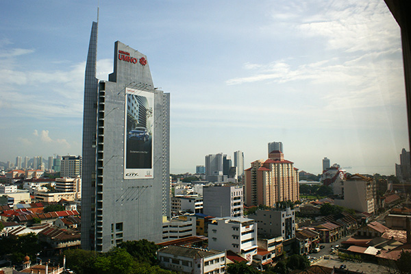 That tall building is UMNO's headquarters in Penang.