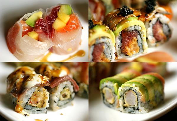Mango sashimi roll