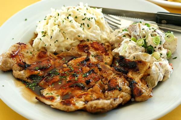 Teriyaki chicken, S$5.50.
