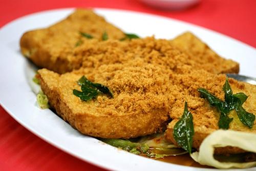 Deep-fried tofu with pork floss