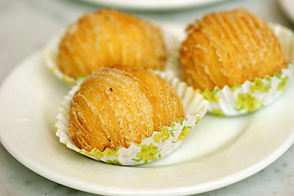 Durian puffs, S$4.20.