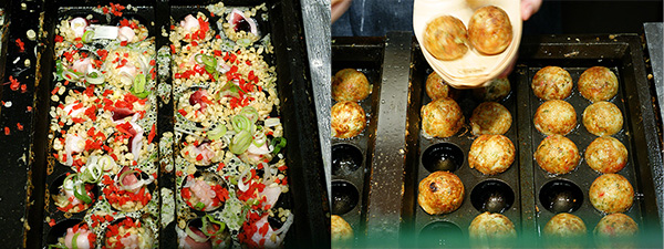 Left: Pre-battered balls; Right: Ready to be served!